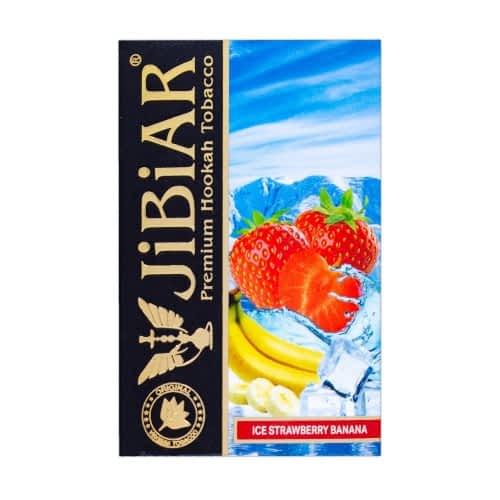 Табак JIBIAR Ice Strawberry Banana (Клубника Банан Лед) 50 грамм