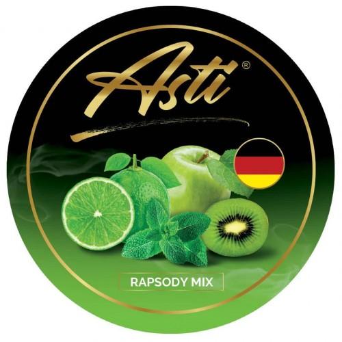 Табак Asti Rapsody Mix (Яблоко Лайм Киви Мята) - 100 грамм