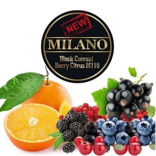 Табак Milano Black Currant Berry Citrus M119 (Черная Смородина Ягода Цитрус) - 50 грамм