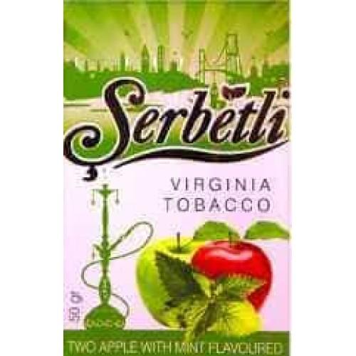 Табак Serbetli Two Apple Mint (Двойное Яблоко Мята) - 50 грамм
